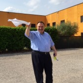 Pastor Mauro Girgenti gave us an official Italian white flag ceremonial goodbye!