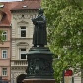 In the city square of Eisenach itself is a statue of Luther.