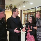 Paul Renner, one of Rick and Denise's three sons, gave us a tour of the beautiful new Good News Church of Moscow.