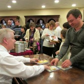 It was a joy signing books for the congregation members.