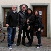 With our hosts and good friends, Pastor Peter and Vivian Hasler in front of the Hus Museum in Constance, Germany.