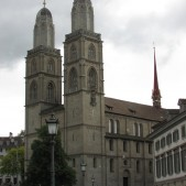 Zwingli's church… the Grossmünster.