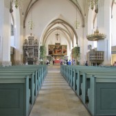 St. Mary's Church in Wittenberg, Germany where Martin Luther preached.