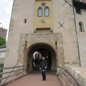 Lisa standing near the entryway to the Wartburg Castle itself.
