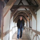 Standing in the hallway leading to Luther's room in the Wartburg Castle.