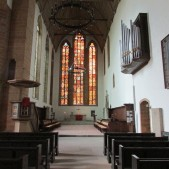 The sanctuary of the church at the Augustinian Monastery in Erfurt. You'll see scenes from this sanctuary in the Luther movie (2003). This is where Luther took his monastic vows.