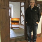 "This is one of the four ""cells"" that Luther slept in during his time in the monastery in Erfurt."