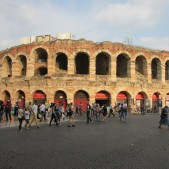 Built in 30 A.D., the Arena in Verona is still used for concerts and events today. In ancient times, it could seat 30,000 people.