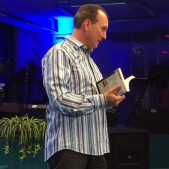 "After I preached at Zoe Gospel Center on Tuesday evening, Pastor Peter Hasler talked to the congregation about our book, ""In Search of Timothy,"" which he was instrumental in having translated into German."