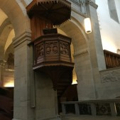The pulpit in the Grossmünster.