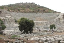 After Russia, Tony and Lisa traveled to Greece where they met the group who would be touring biblical sites in Greece and Turkey with them. Pictured below, from a distance, is the great theater of Ephesus. This is where the riot described in Acts 19 took place. It seated around 24,000 people.