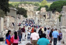 This is also a picture from Ephesus. This street leads to the Library of Celsus.