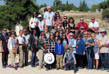 This is the group of 34 who toured biblical sites with Tony and Lisa. The location here is behind the Bema (Judgment) Seat in ancient Corinth where Paul stood trial before Galio (Acts 18).