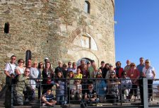 This is the whole group at the ancient ramparts of the city of Thessalonica.