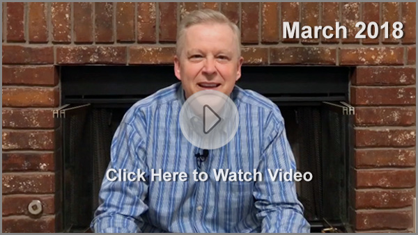 March 2018 Video Update by Tony Cooke