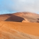 View from sickle shaped sand dune at Sossusvlei towards north